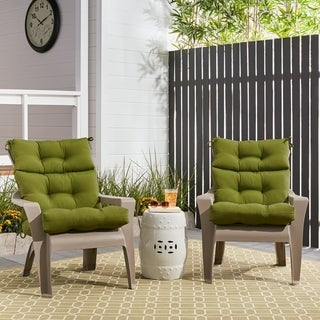 Outdoor High-back Chair Cushions (Set of 2)