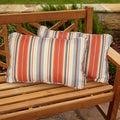 Tango Stripe Corded Indoor/ Outdoor Throw Pillows (Set of 2)