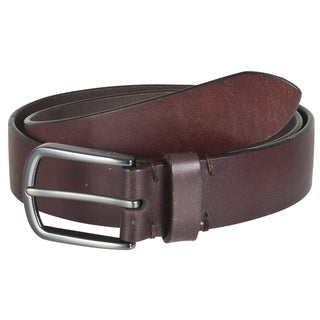 Marc New York Men's Brown Classic Genuine Leather Belt