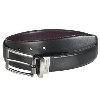 Geoffrey Beene Men's Reversible Top-stitched Dress Belt
