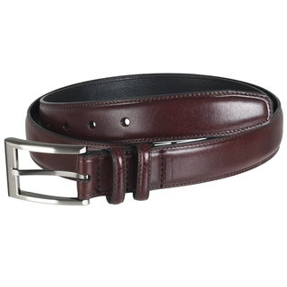 Geoffrey Beene Men's Polished Brown Leather Belt