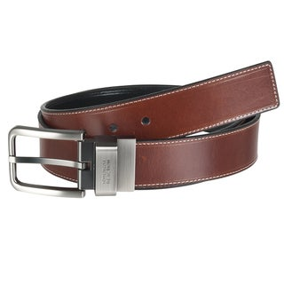 Kenneth Cole Reaction Men's Reversible Topstitched Leather Belt