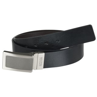 Kenneth Cole Reaction Men's Leather Reversible Square Buckle Belt