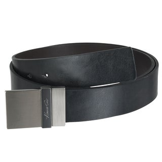 Kenneth Cole Men's Reversible Square Buckle Leather Belt