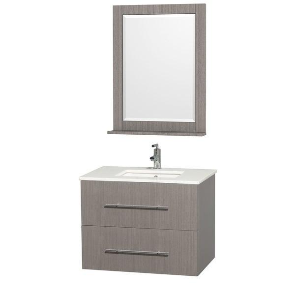 Centra Grey Oak/ White 30-inch Single Bathroom Vanity Set