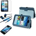 INSTEN Tablet Case Cover/ Screen Protector/ Headset for Samsung Galaxy Tab 2 7.0