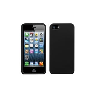 INSTEN Black Phone Case Cover for Apple iPhone 5