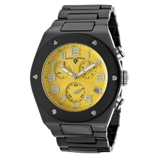 Swiss Legend Men's 'Throttle' Black Ceramic Watch