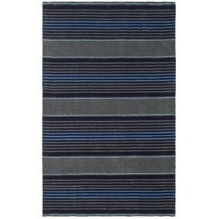 Martha Stewart Harmony Stripe Wrought Iron Wool Rug (9' x 12')