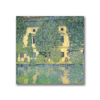Gustav Klimt 'The Schloss Kammer on the Atterse' Canvas Art