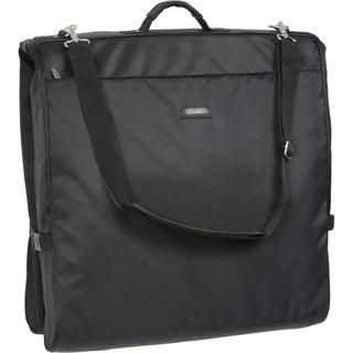 Wally Bags 45-Inch Framed Black Shoulder Strap Garment Bag