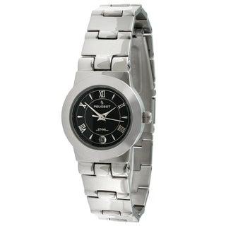Peugeot Women's Stainless Steel Black Dial Watch