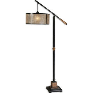 Uttermost Sitka 1-light Aged Black Lantern Floor Lamp