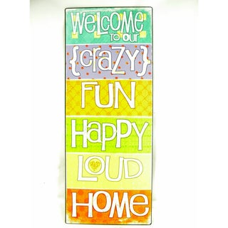 Vintage Style 'Our Crazy Home' Metal Sign