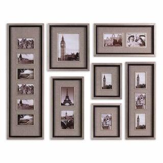 Uttermost Massena Matte Black Photo Frame Collage, S/7