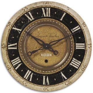 Uttermost Auguste Verdier 27-inch Antiqued Brass Wall Clock