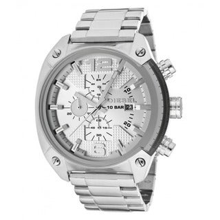 Diesel Men's Stainless Steel Silver Dial Chronograph Watch