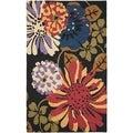 Safavieh Handmade Jardin Black/Multi Wool Area Rug (5' x 8')