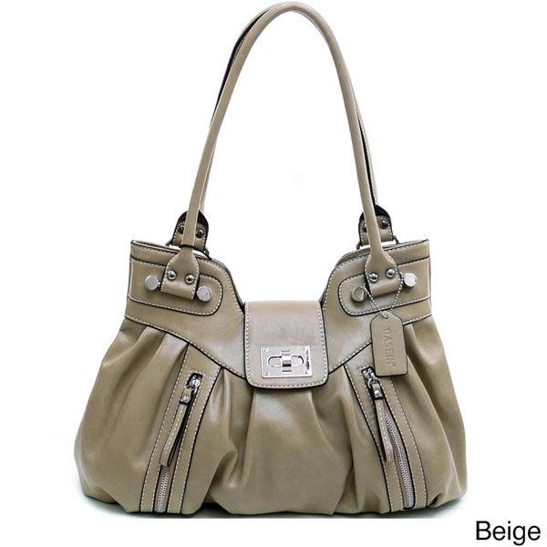 Dasein Women's Zipper Accented Shoulder Bag