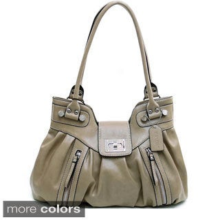 Dasein Women's Zipper Accented Shoulder Bag