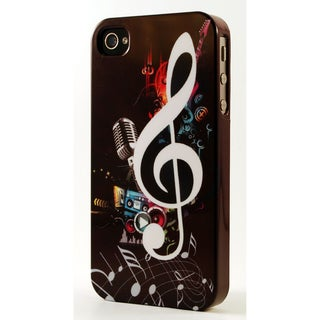 Musical Notes & Treble Cleft Dimensional Plastic iPhone Case