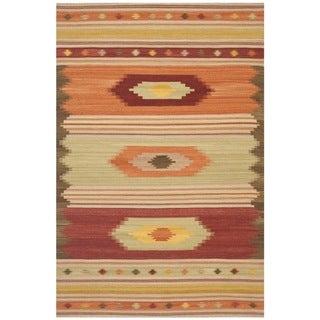 Safavieh Hand-woven Navajo Kilim Brown/ Multi Wool Rug (9' x 12')