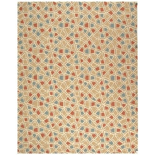 Safavieh Hand-hooked Newport Red/ Blue Cotton Rug (8'6 x 11'6)