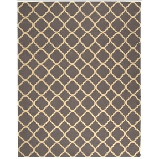 Safavieh Hand-hooked Newport Grey/ Ivory Cotton Rug (8'6 x 11'6)