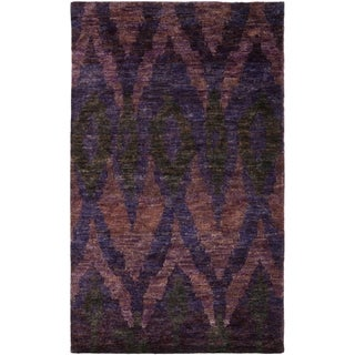 Thom Filicia Hand-knotted Midnight Violet Hemp Rug (8' x 10')