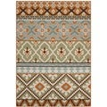 Safavieh Veranda Piled Indoor/ Outdoor Green/ Terracotta Rug (6'7 x 9'6)