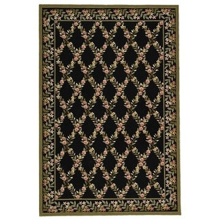Safavieh Hand-hooked Wilton Black/ Green New Zealand Wool Area Rug (8'6 x 11'6)