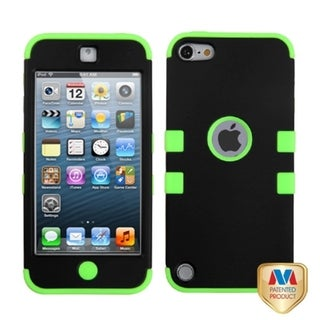 INSTEN Black/ Green Hybrid Cover for Apple iPod Touch Generation 5