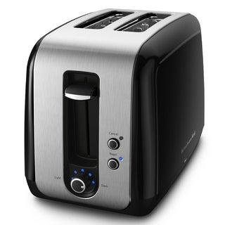 KitchenAid RKMT2115OB Onyx Black 2-Slice Toaster (Refurbished)