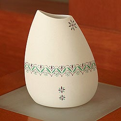 Handcrafted Porcelain 'Valley' Vase (Mexico)