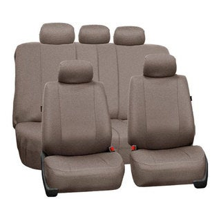 FH Group Taupe Airbag Compatible Split Bench Full Set Seat Covers