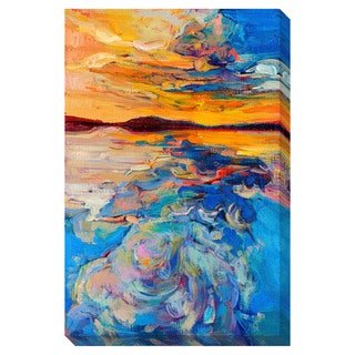 Sunset on the Water Oversized Gallery Wrapped Canvas