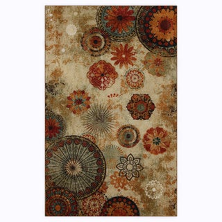 Indoor/Outdoor Medallion Multi Rug (5' x 8')