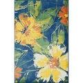 Skye Monet Cobalt Blue Rug (5'2 x 7'7)