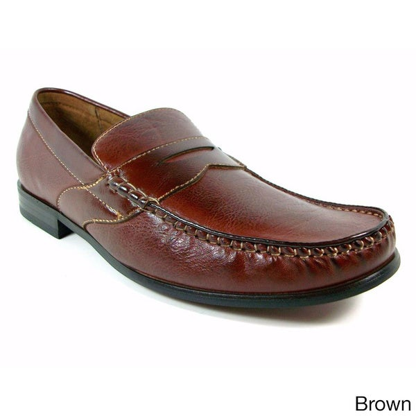 Ferro Aldo Men's Vegan Leather Penny Loafers