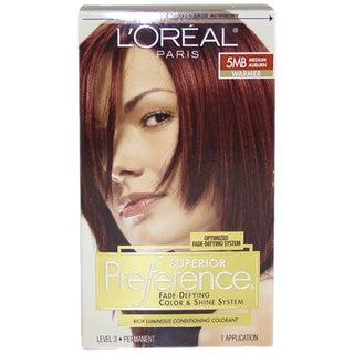 L'Oreal Superior Preference Fade-Defying #5MB Medium Auburn Warmer Hair Color