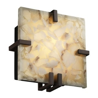 Justice Design Group 1-light Clip Square Dark Bronze Wall Sconce