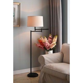 Aldrin Copper Bronze Swing Arm Floor Lamp