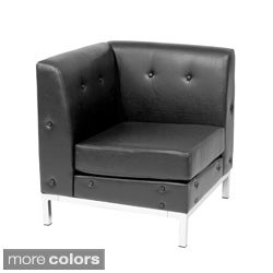 Wall Street Faux Leather Corner Chair