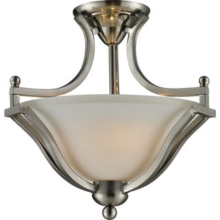 Lagoon Brushed Nickel Two-Light Flush Light