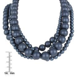 Roman Colored Faux Pearl 4-piece Necklace