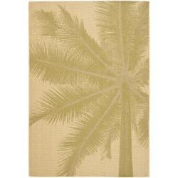 Safavieh Key West Palm Natural Indoor Outdoor Rug (5'3 x 7'7)