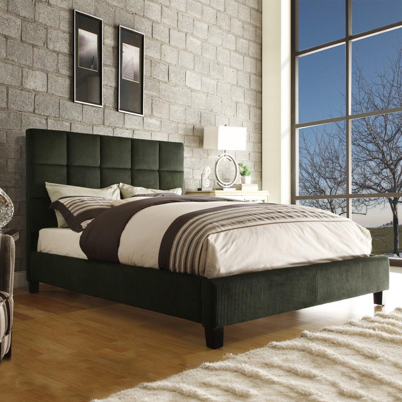 Sarajevo Moss Corduroy King-size Bed
