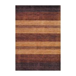 Indo Hand-knotted Tibetan Brown Wool Rug (4' x 6')