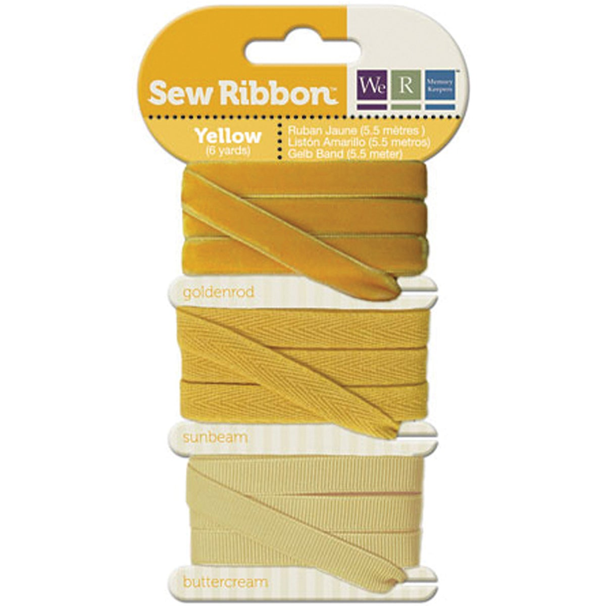 We R Memory Keepers Sew Ribbon Yellow Ribbon (6 yards)