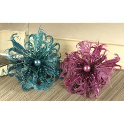 Prima Flowers Le Coque 'Windsor' Feather and Pearl Flowers (Pack of 2)